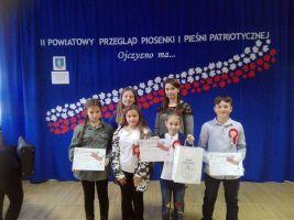 Wyróżnieni na Powiatowym Przeglądzie Pieśni Patriotycznej